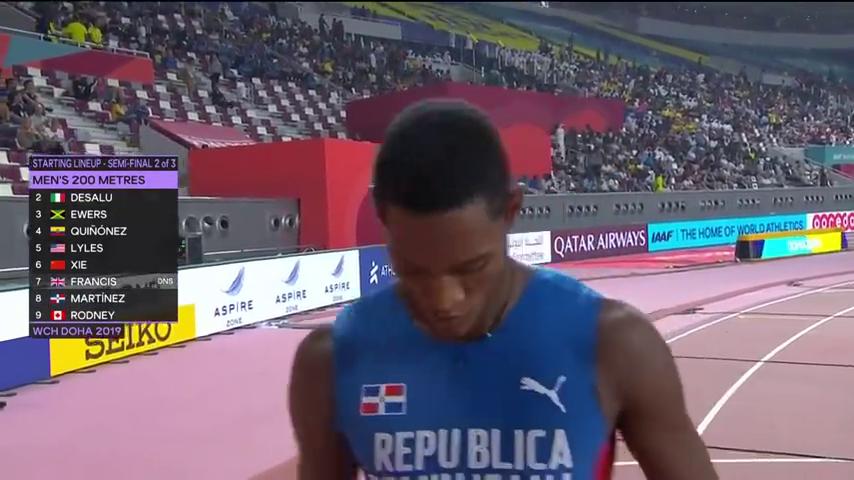 创造历史!多哈世锦赛男子200米半决赛,谢震业20秒03晋级