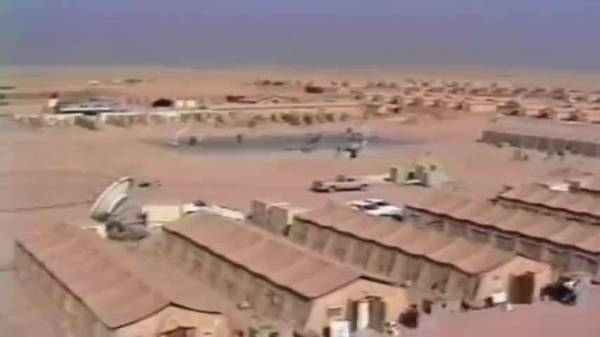 海湾战争,看看美军攻打伊拉克的兵力,把沙漠堵得像洛杉矶一样