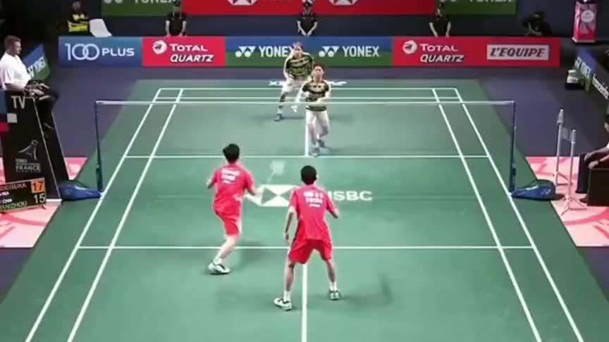 羽毛球:面对世界第一 韩呈恺周昊东这个回合气势十足