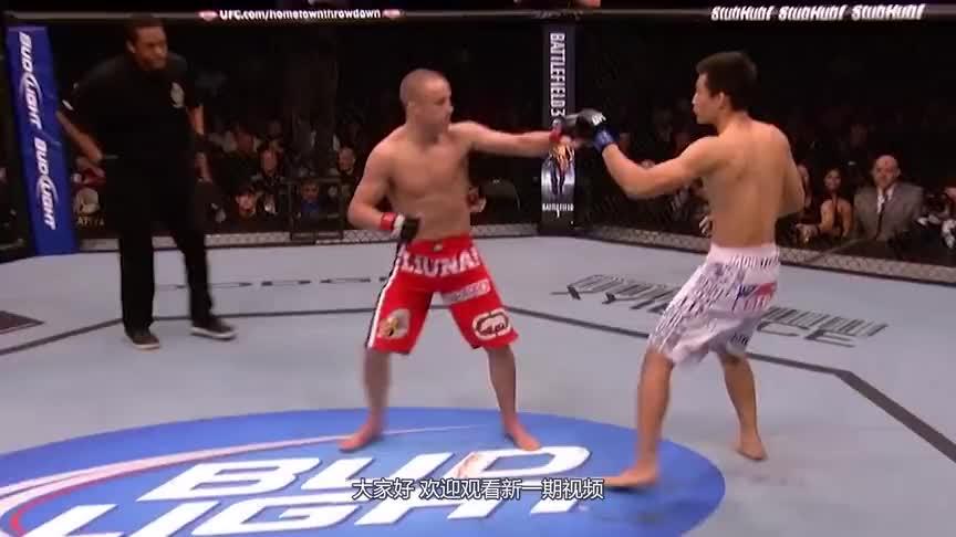UFC新星上演惊天一肘,可怜的韩国格斗手,他的努力让人窒息