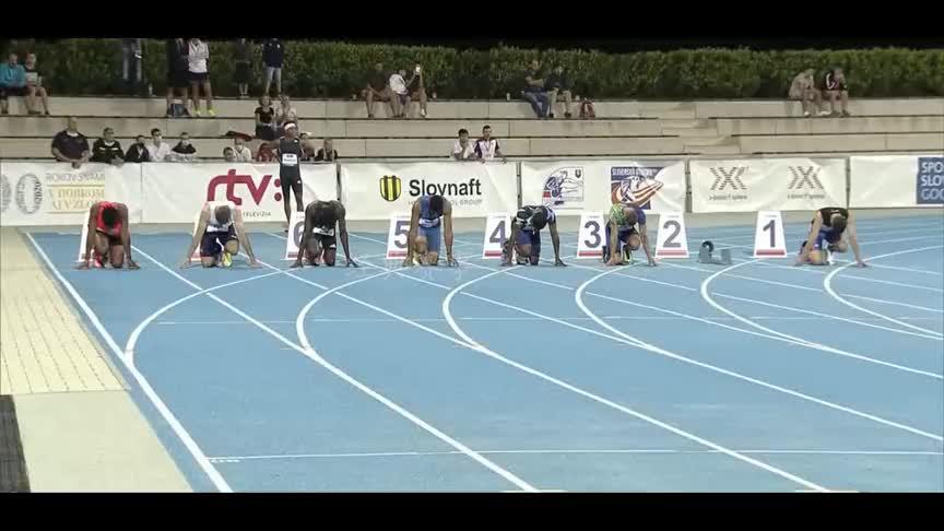 捷克田径锦标赛百米决赛,美国飞人罗杰斯10秒15夺冠!