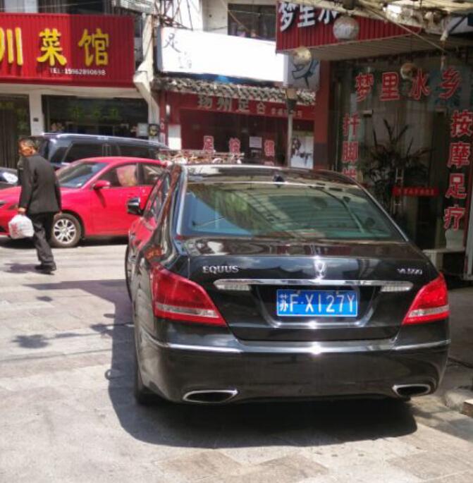 南通通州区街头偶遇现代雅科仕,外观低调至极!