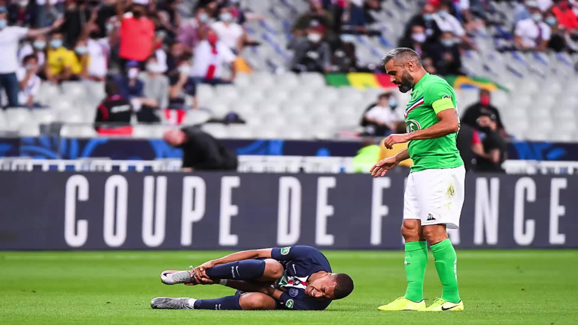 意外!姆巴佩右脚踝扭伤停3周 或缺席法国联赛杯决赛和欧冠