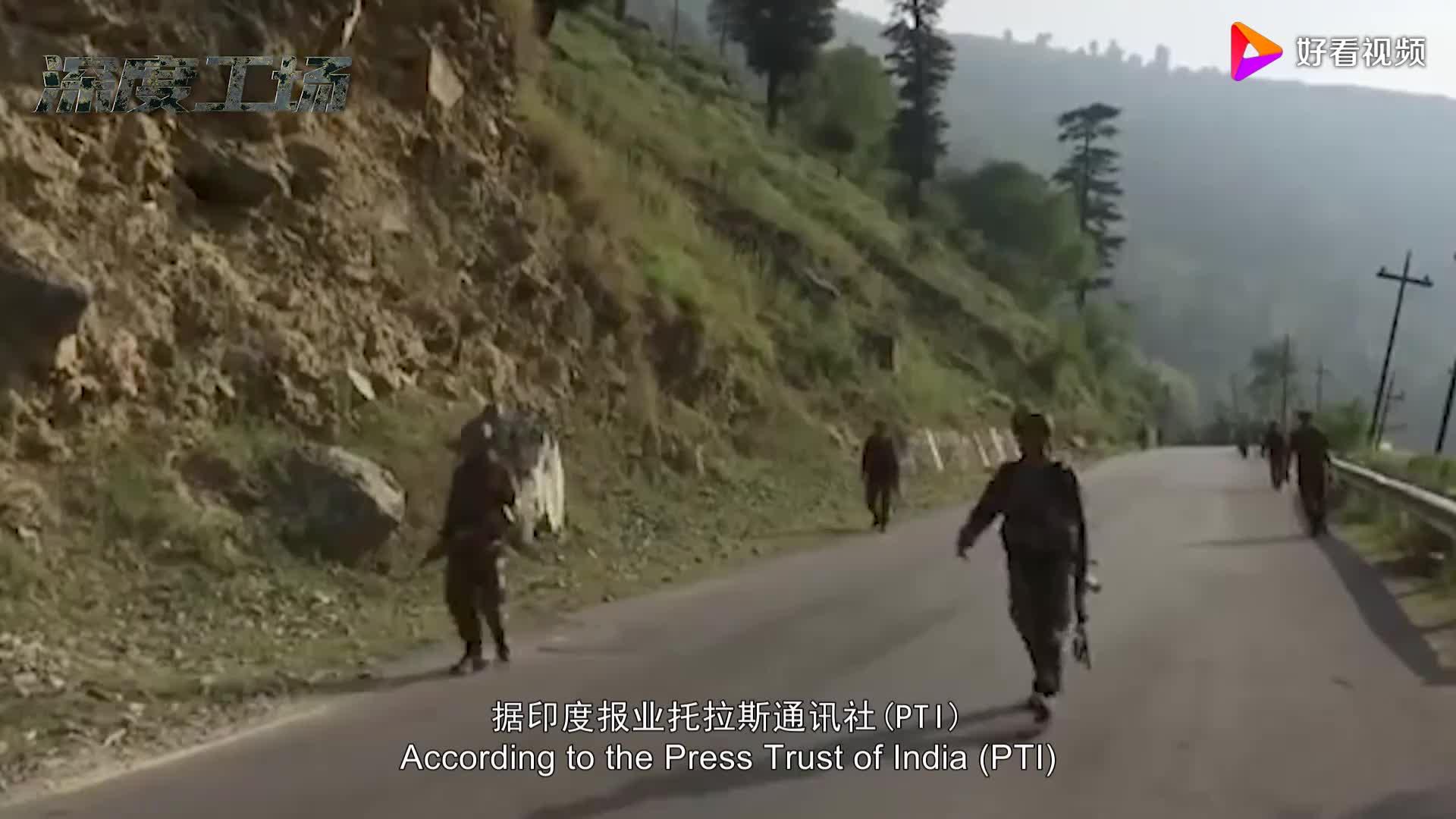 印度边防军夜晚进入山区:边境线想占便宜:结果踩地雷倒在血泊中