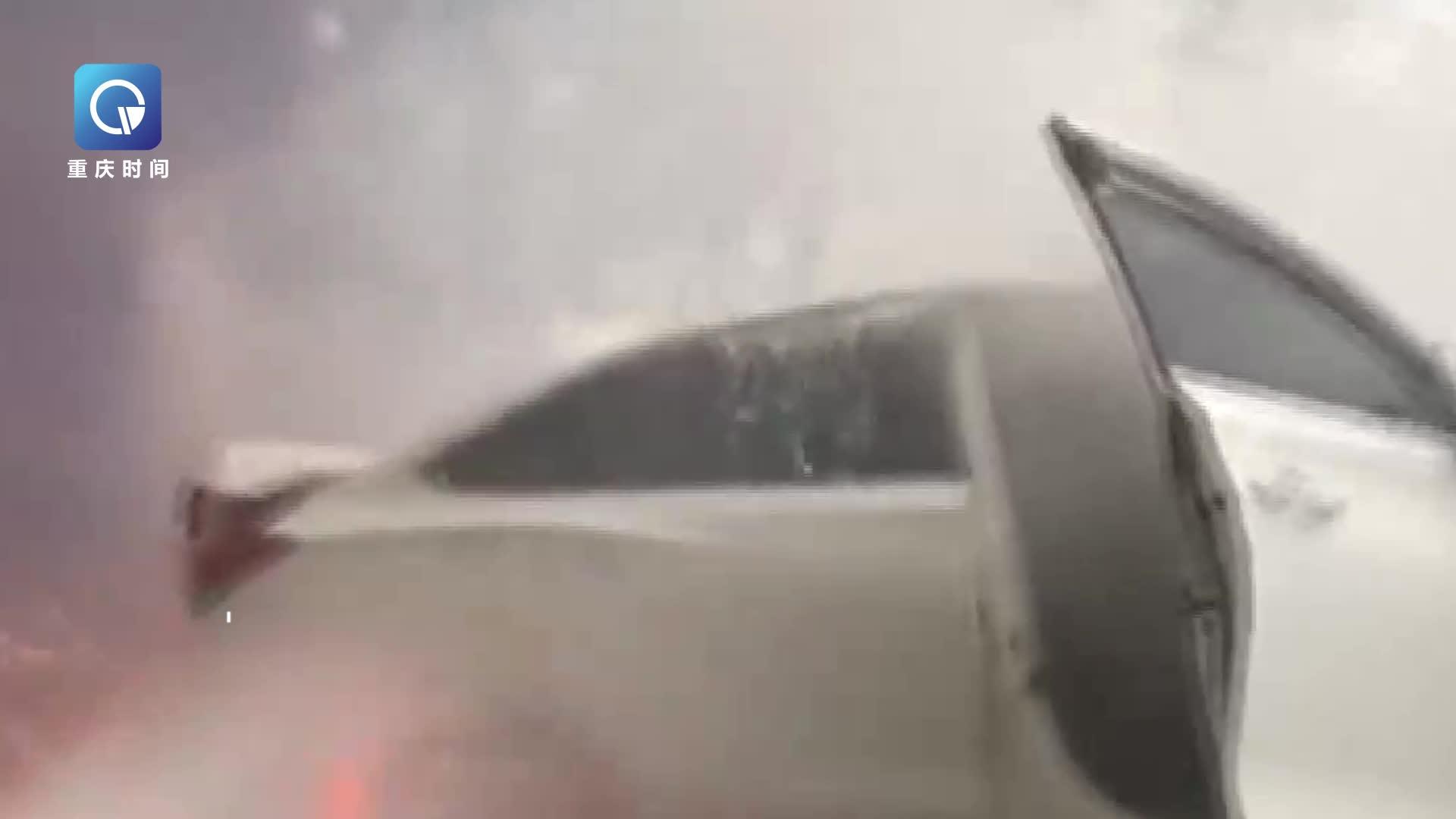 电动小轿车突然起火燃烧 并伴有小的爆炸声