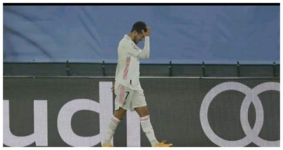 皇马主场1-2不敌阿拉维斯,阿扎尔在比赛第28分钟伤退