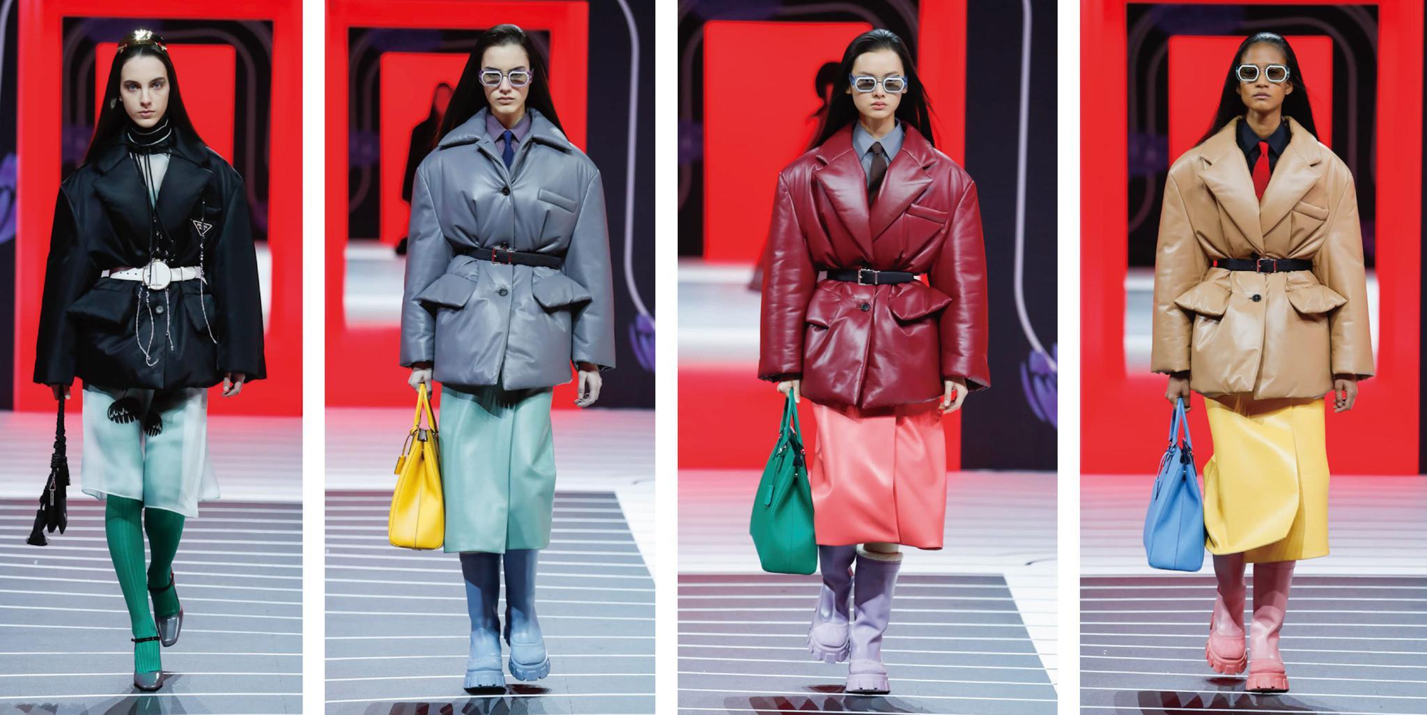 Prada 2020秋冬时装系列,每一套都展现了女性未来的无限可能