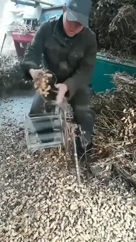 自制的打花生机