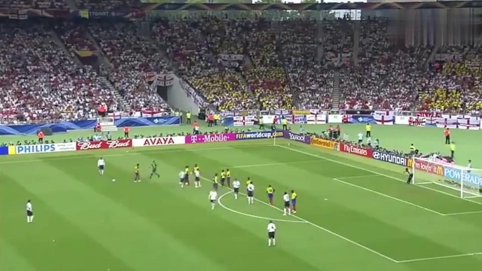贝克汉姆世界杯上最后一球,对方万万没想到这也能进,帅到没朋友!