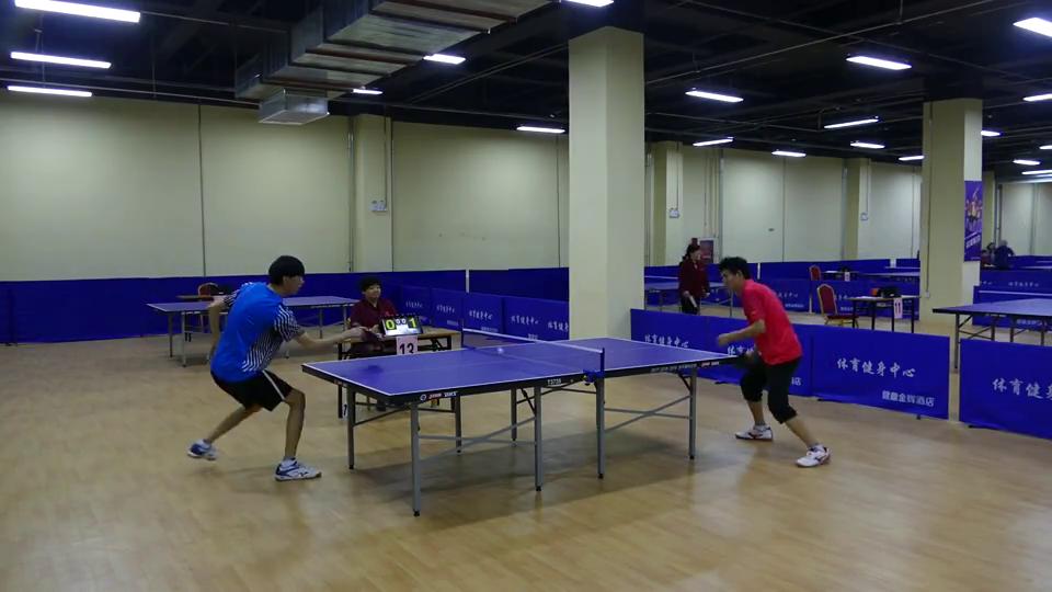 U1950单打半决赛张国成vs李威达首届健鼎杯全国乒乓球积分大奖赛