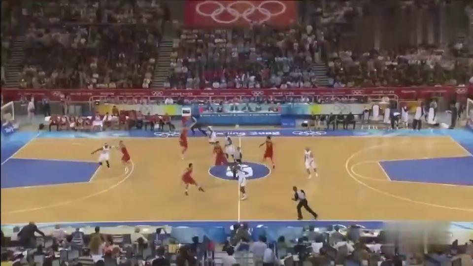 经典回顾2008年北京奥运会男子篮球小组赛-中国男篮vs美国梦八