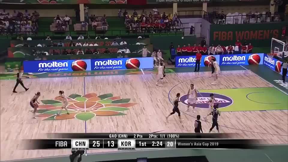 2019女篮亚洲杯十佳球 中国篮下强攻排首位 2个盖帽不输男篮