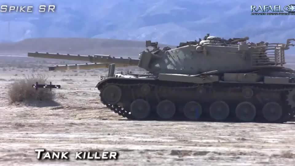 """以色列""""长钉""""反坦克导弹发射,威力比美军标枪导弹还要猛!"""