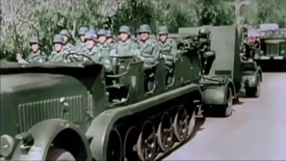 实拍88毫米高射炮在二战中的表现,德军的经典!