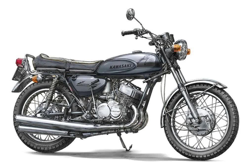 长谷川 1:12 摩托新品Kawasaki 500-SS/MACH III 预告