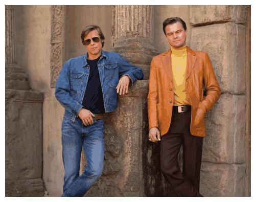 《好莱坞往事》再曝片场照,两大男神皮特和小李子均现身