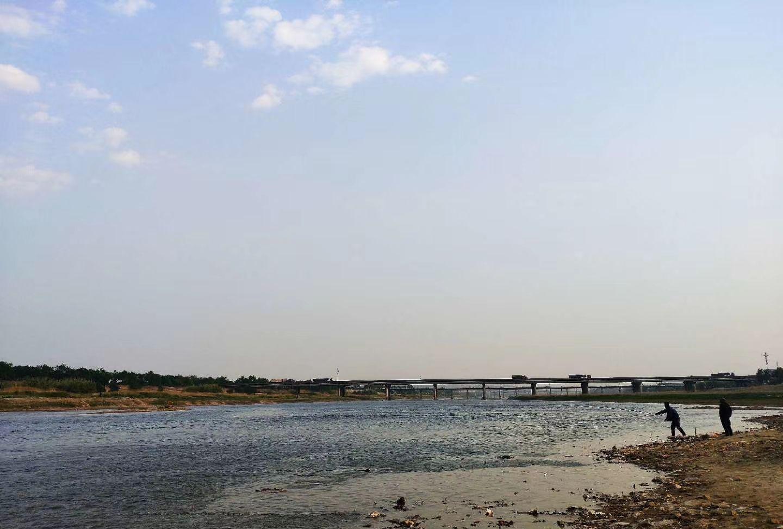 随拍号称河南省巩义市的母亲河——伊洛河自然风光