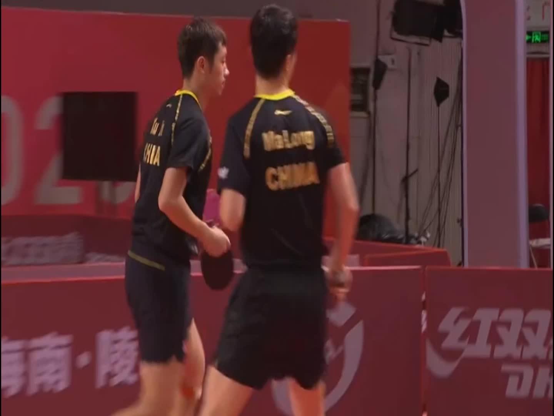 乒乓球东京模拟赛,马龙许昕对战梁靖崑王楚钦,你们更看好哪一对