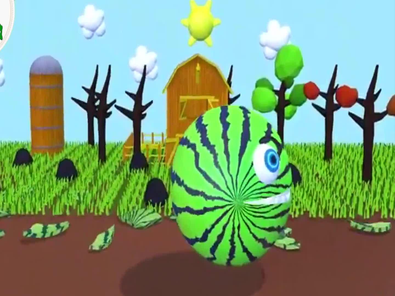 大球球吃挖掘机,益智动画学颜色