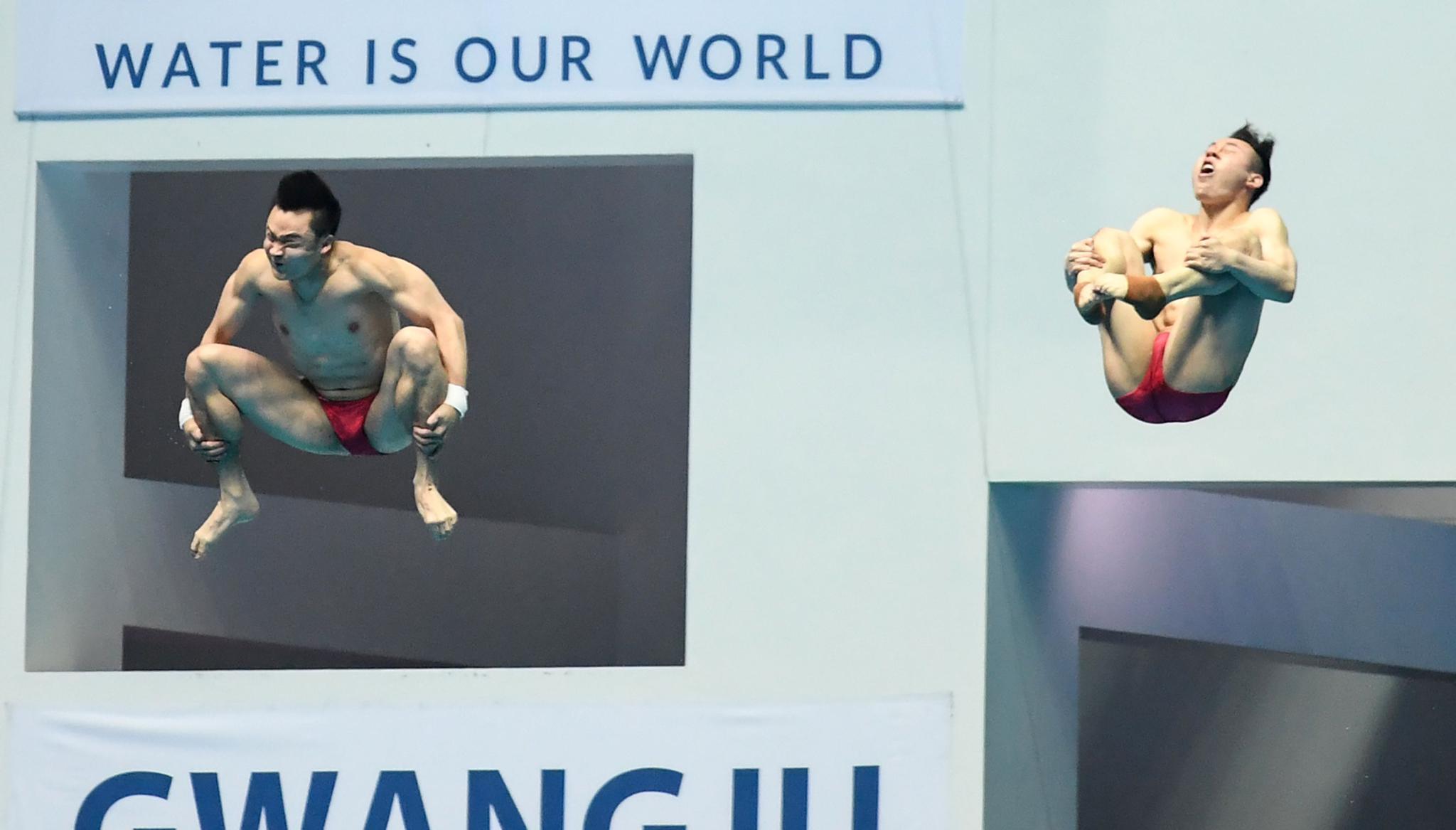 跳水——男子双人3米板:中国组合曹缘/谢思埸夺冠
