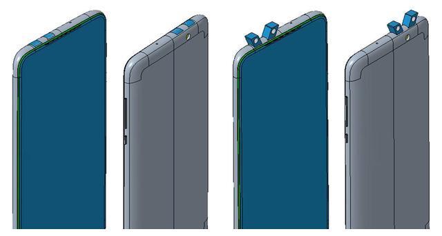 小米手机新外观设计专利曝光,采用双弹出摄像头