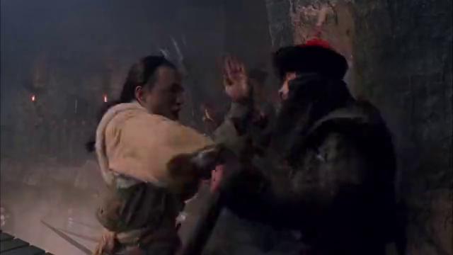 真功夫打斗现场,少林寺武功盖世,黑衣人打得好吃力