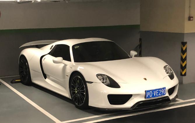 上海嘉里中心实拍保时捷918跑车,价值千万堪称神车!