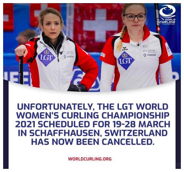 2021年世界女子冰壶世锦赛取消