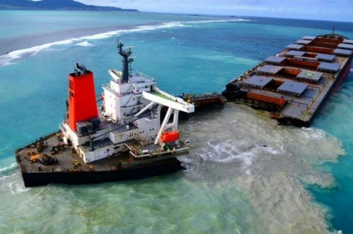 拦截毛里求斯的日本货船被一分为二 政府