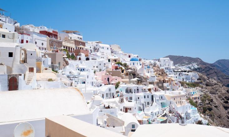 一起云旅游:希腊圣托里尼,全世界最美的爱琴海小岛!