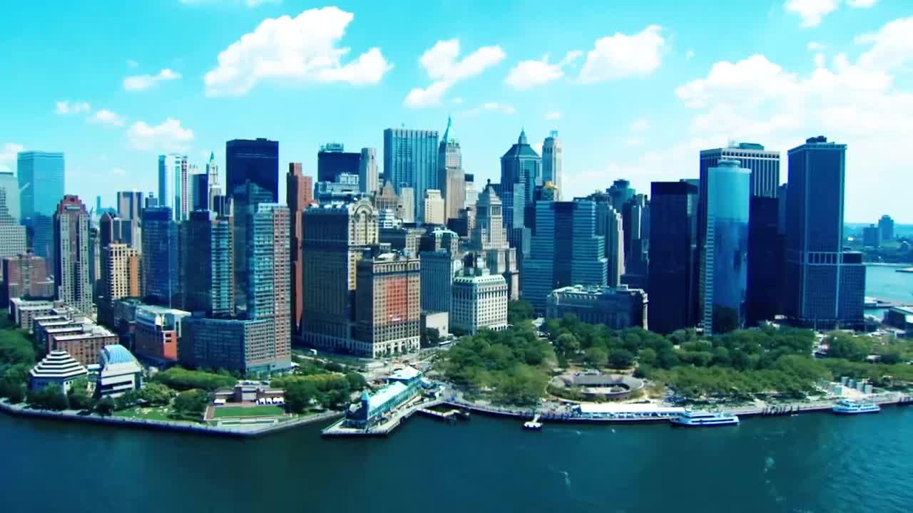 4k高清航拍世界第一大城市,掌控着世界60%的经济命脉