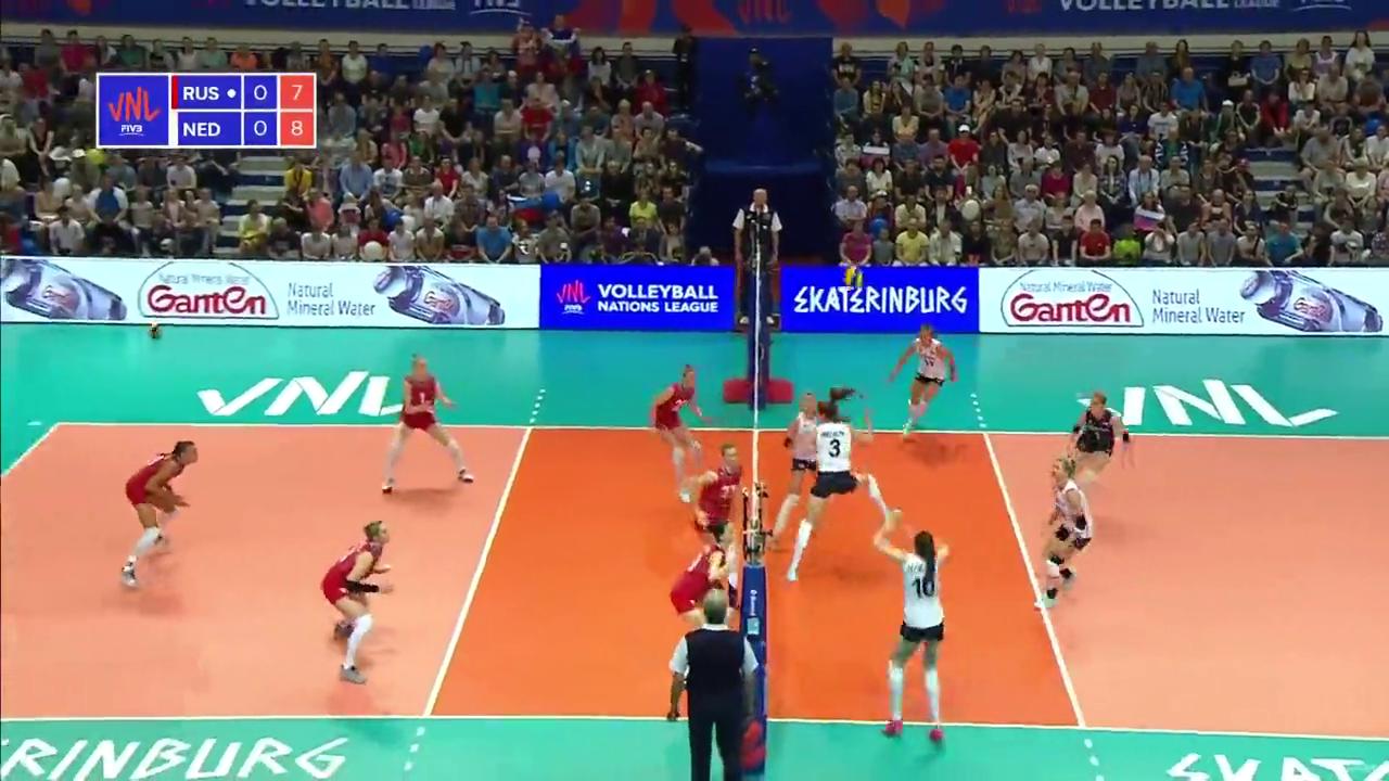 斯洛特耶斯16分,荷兰女排战胜俄罗斯女排,2019年国家联赛
