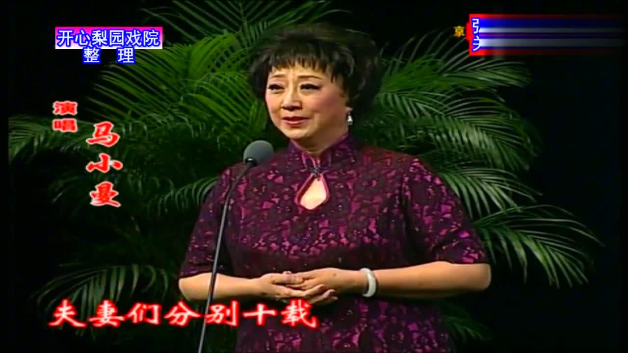 京剧《生死恨》选段夫妻分别十于载梅派名家马小曼演唱燕守平伴奏