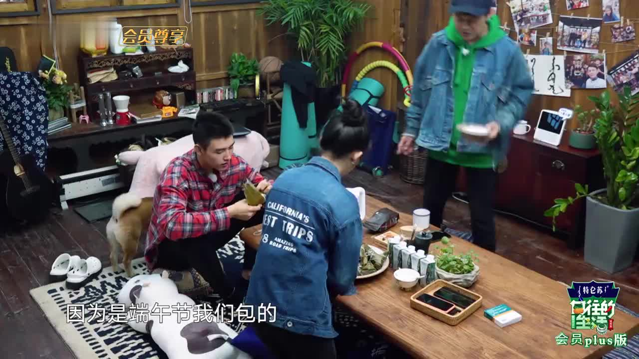 何蓝逗想吃红枣粽与何炅交换 与陈飞宇表演吃粽子吃美了