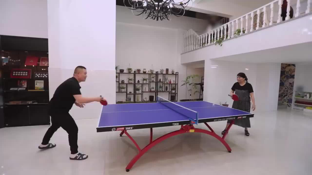 岳岳和女主人打乒乓球,用计赢了比赛,郭麒麟:他被乒联除名了