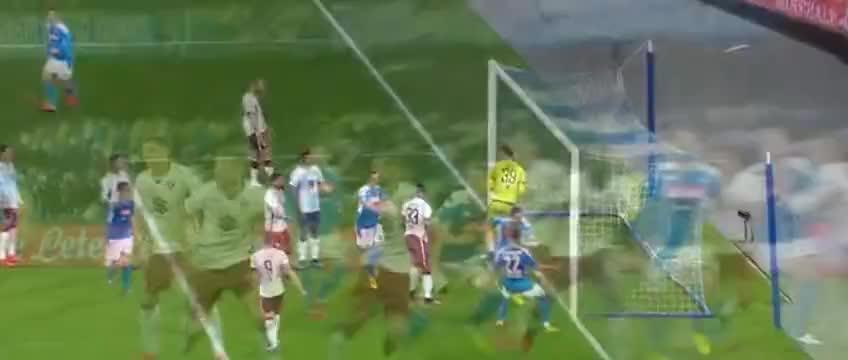 因西涅精准定位球传中,马诺拉斯头球破门