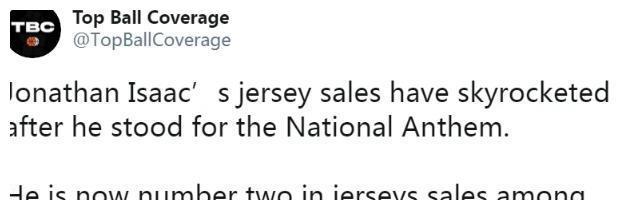 22岁新星只因这一个举动,球衣销量飙升卖到断货,仅次于詹姆斯