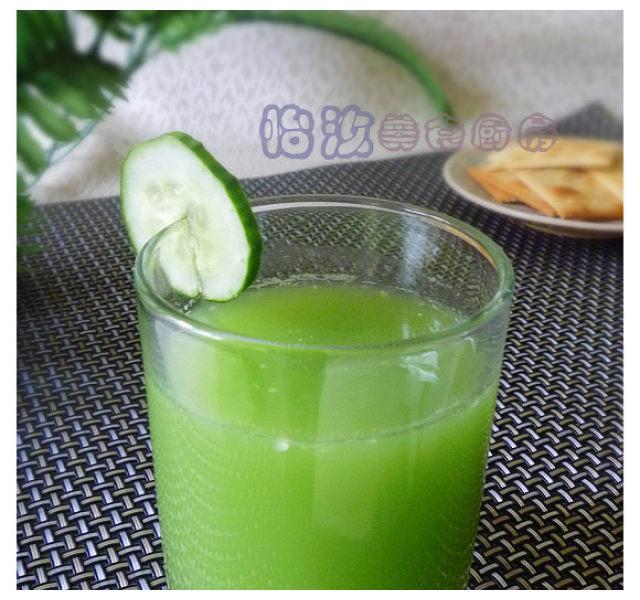 减肥蔬果汁之「原汁柠香黄瓜汁」