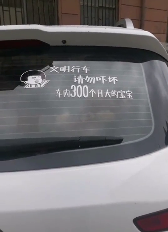 文明行车,请勿吓坏车里有300个月的宝宝