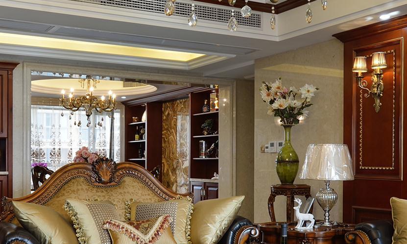 220平米美式风格三居室,预算17万,点击看效果图!