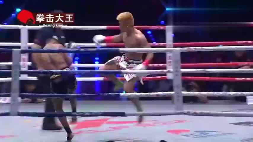 中国再出一猛将!比贵州拳王张美煊还狠辣,几次读秒对手残暴KO