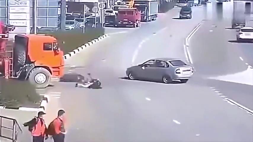 离奇的车祸现场,要不是监控,大货车满身是嘴也说不清