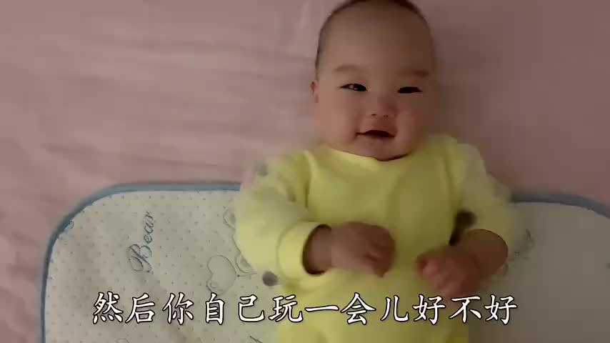 奶爸对宝宝疯狂秀英语,当说到喂啊伐木累,宝宝的反应瞬间亮了