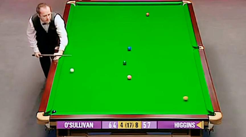 英锦赛:奥沙利文绝佳运气晕进黄球,这种运气简直无敌。