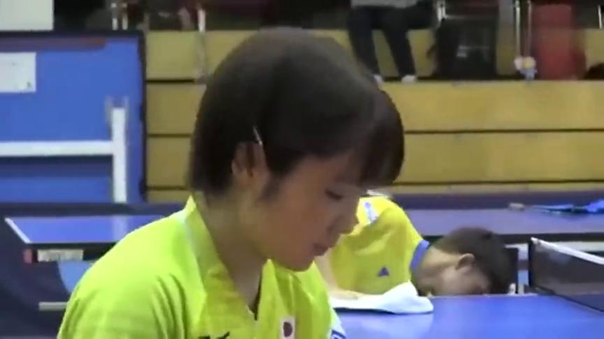 放大招!世乒赛训练场,日本美女平野美宇练习怎么接中国快攻球