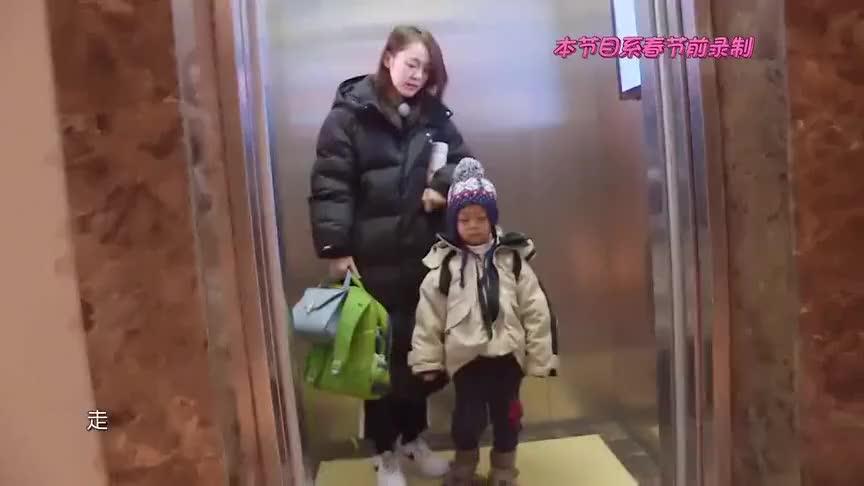 张佳宁送侄子去幼儿园,两人一路上演神对话,吃可爱长大的吧