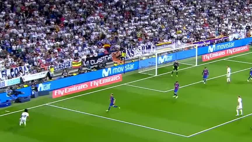 C罗3次上榜 本泽马凌空射门!盘点西班牙德比皇马十大精彩进球