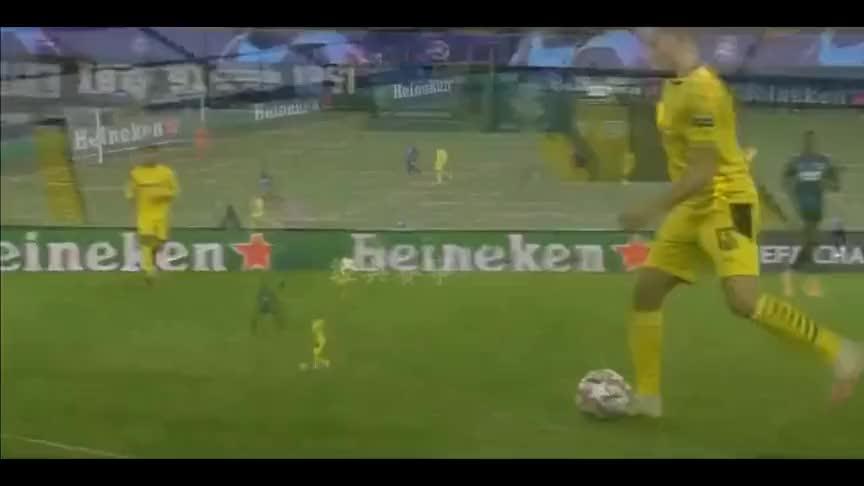 欧冠哈兰德梅开二度,多特蒙德3球大胜布鲁日!