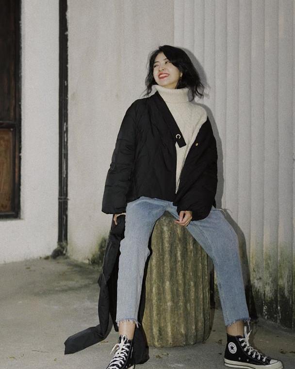 三木博主真前卫,秋天才过一半,就迫不及待穿上初冬款,时髦保暖