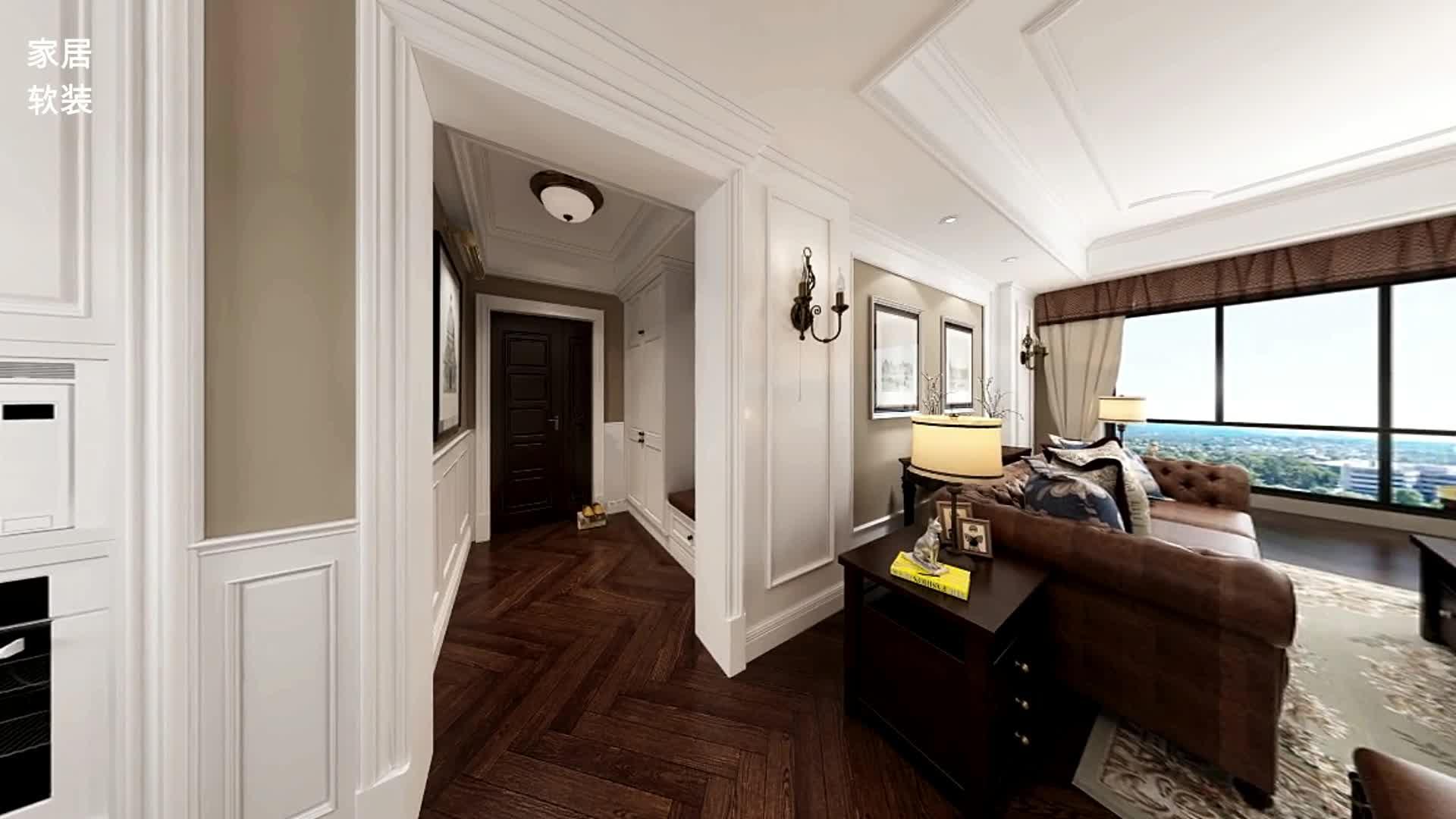 126平米简美风新房,餐厅卡座、开放式厨房,入户鞋柜超实用!